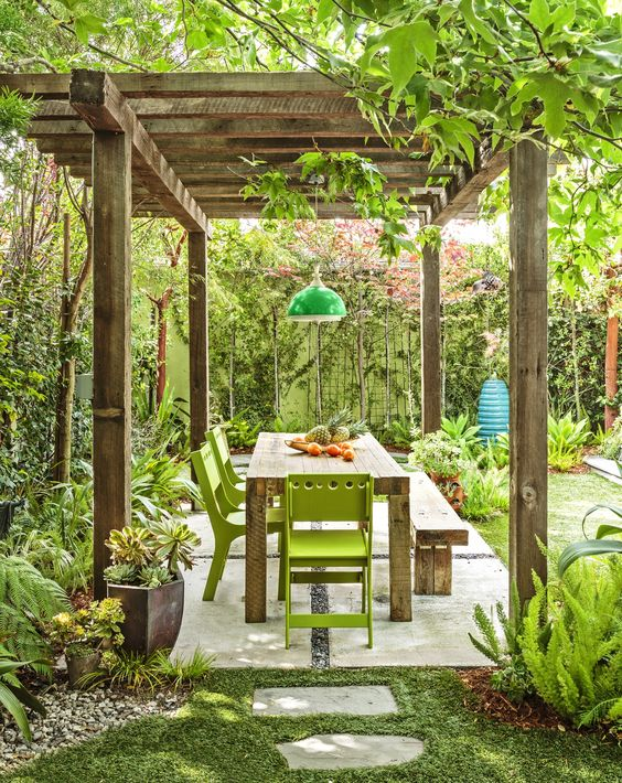 Backyard Dining Ideas: Double Fresh Feeling