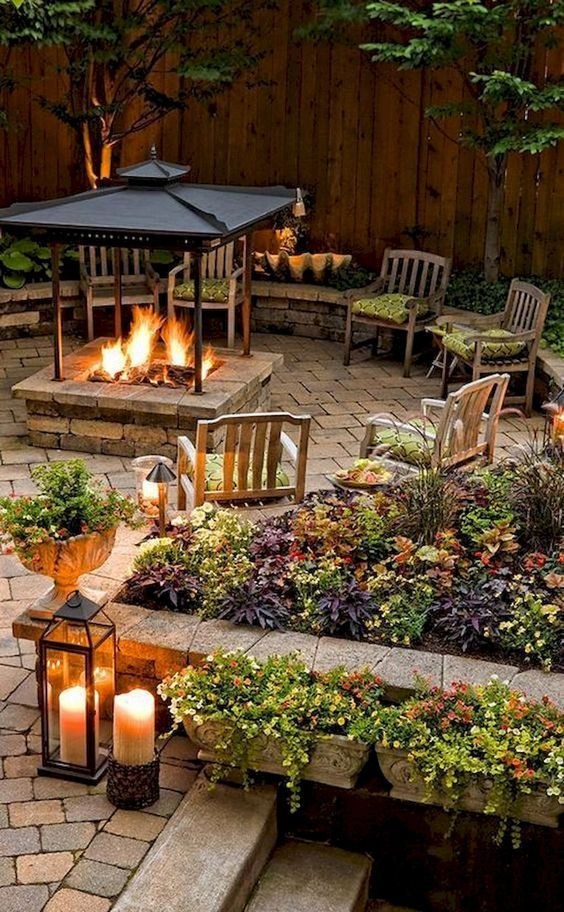 backyard fireplace ideas 11