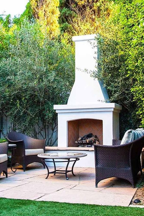 backyard fireplace ideas 12