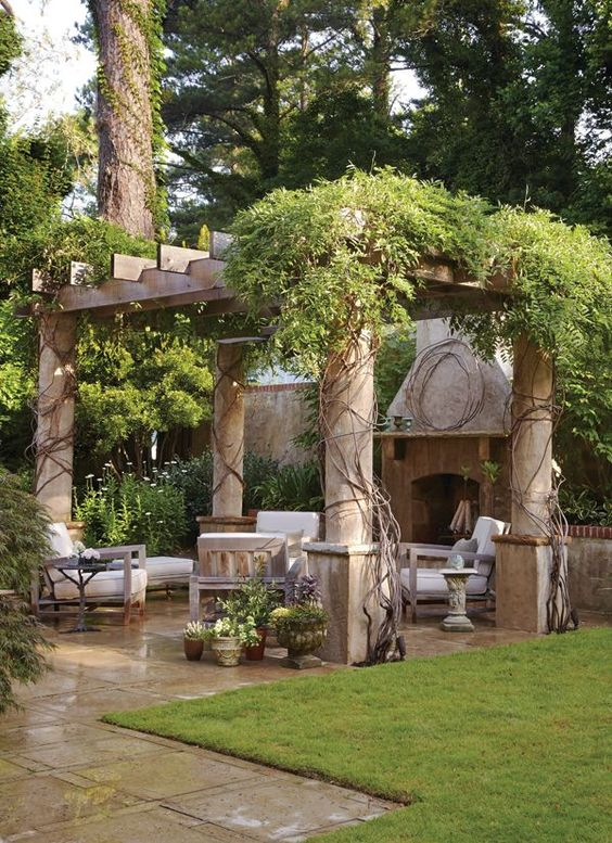 backyard fireplace ideas 19