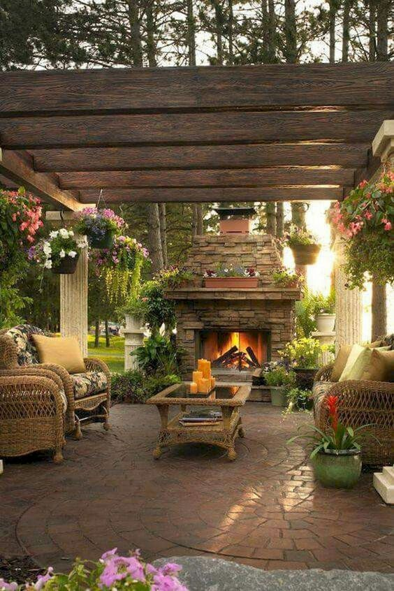Backyard Fireplace Ideas: Jaw-Dropping Back View