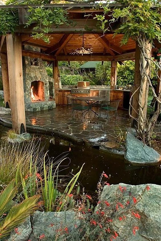 backyard fireplace ideas 20