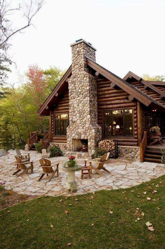 backyard fireplace ideas 25