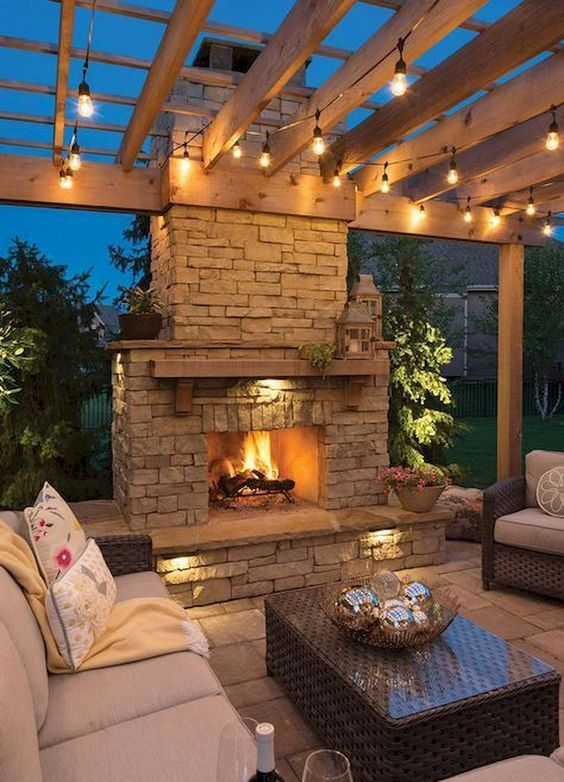 backyard fireplace ideas 4