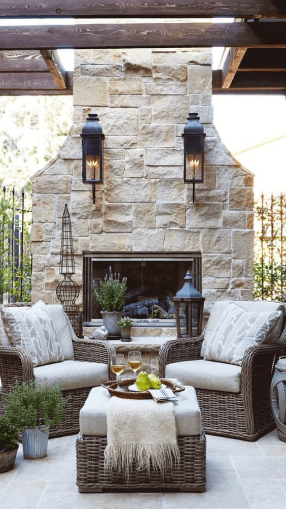 backyard fireplace ideas 8