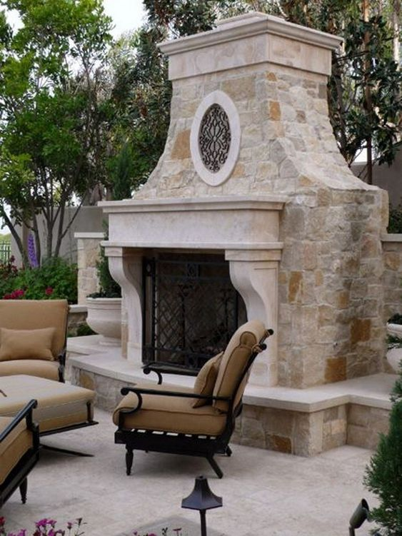 backyard fireplace ideas 9