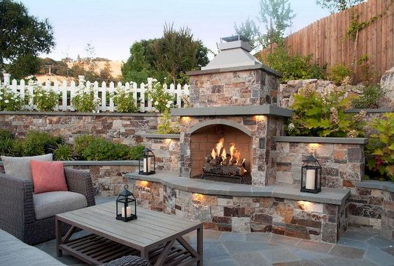 backyard fireplace ideas feature