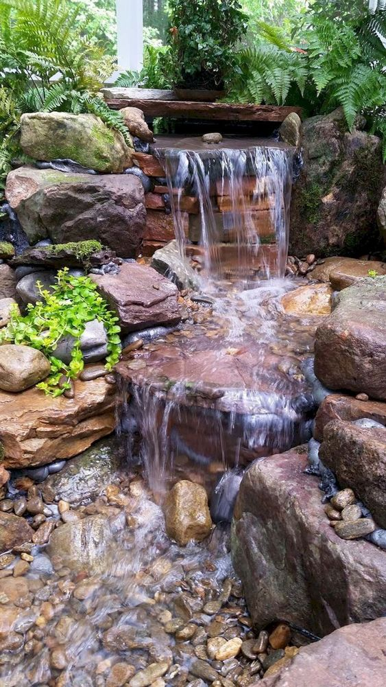 backyard water feature ideas 12