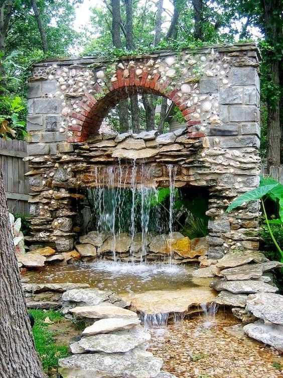 backyard water feature ideas 18
