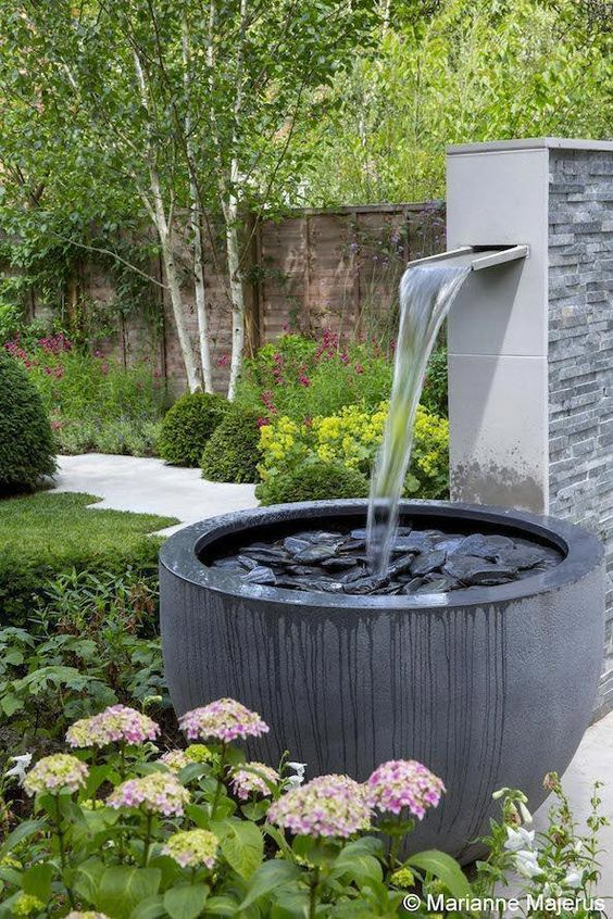 backyard water feature ideas 22