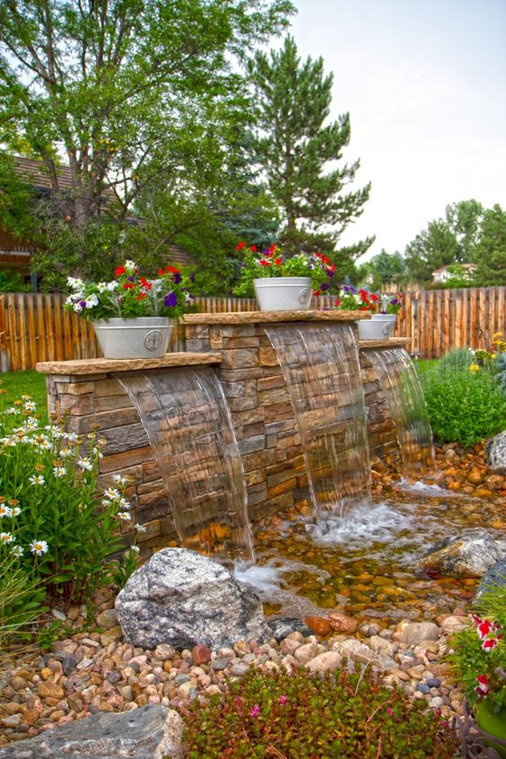Backyard Water Feature Ideas: Earthy Color Is The Answer