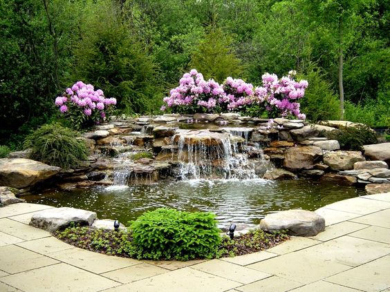 backyard water feature ideas feature