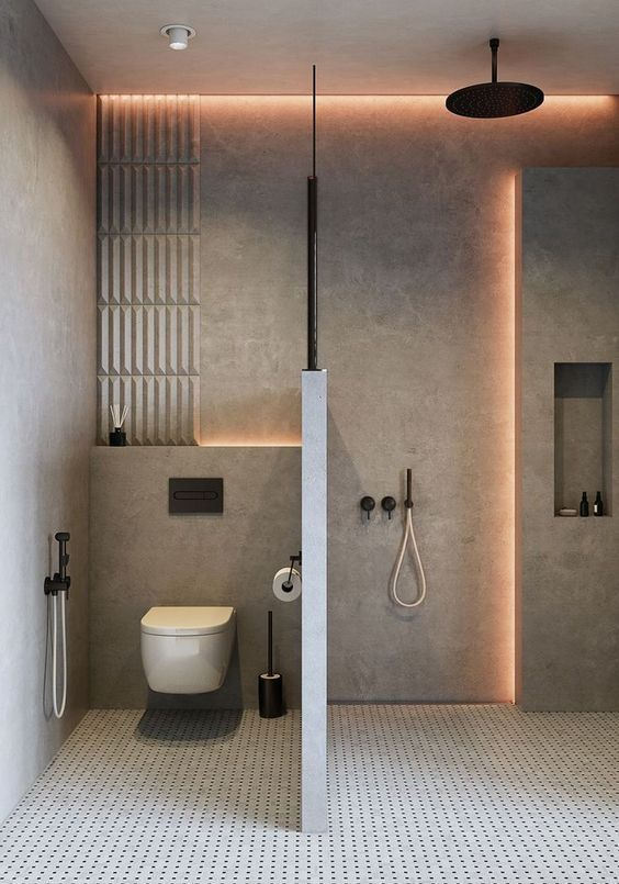 enchanting pink ceiling bathrooms | Enchanting Bathroom Lighting Ideas to Enhance The Ambiance ...