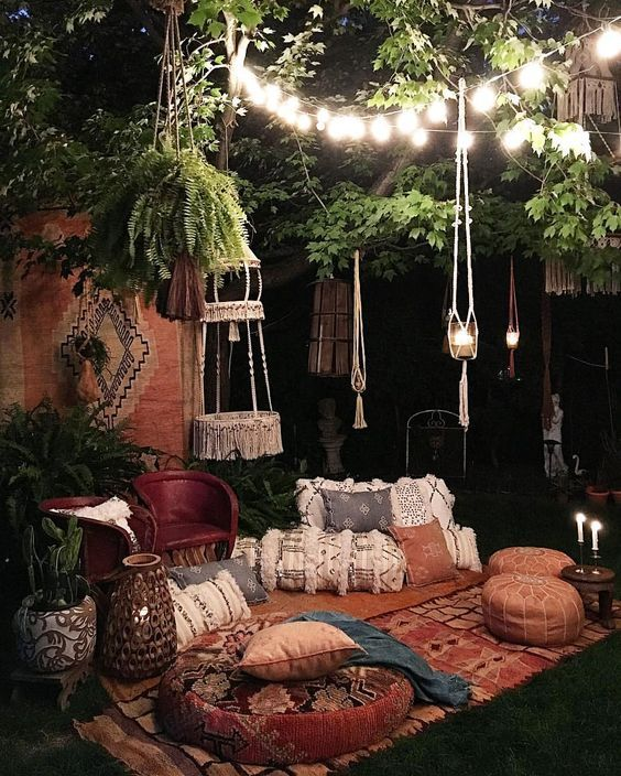 boho backyard ideas 11
