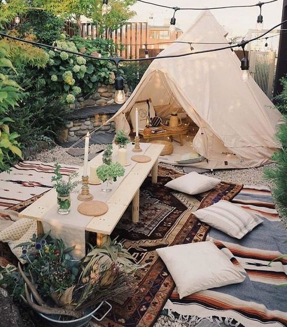 boho backyard ideas 13