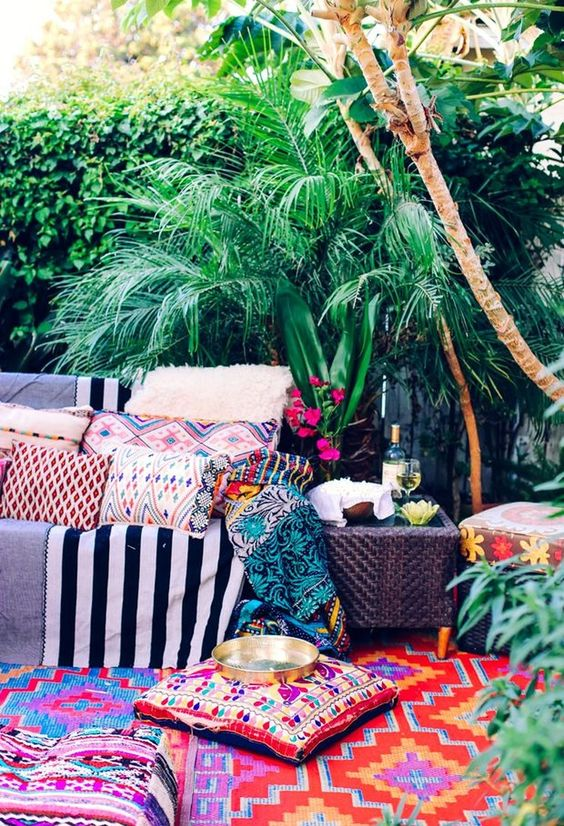 boho backyard ideas 16