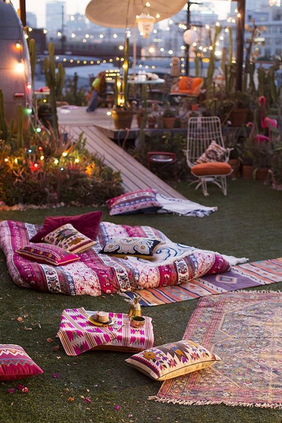 boho backyard ideas 23