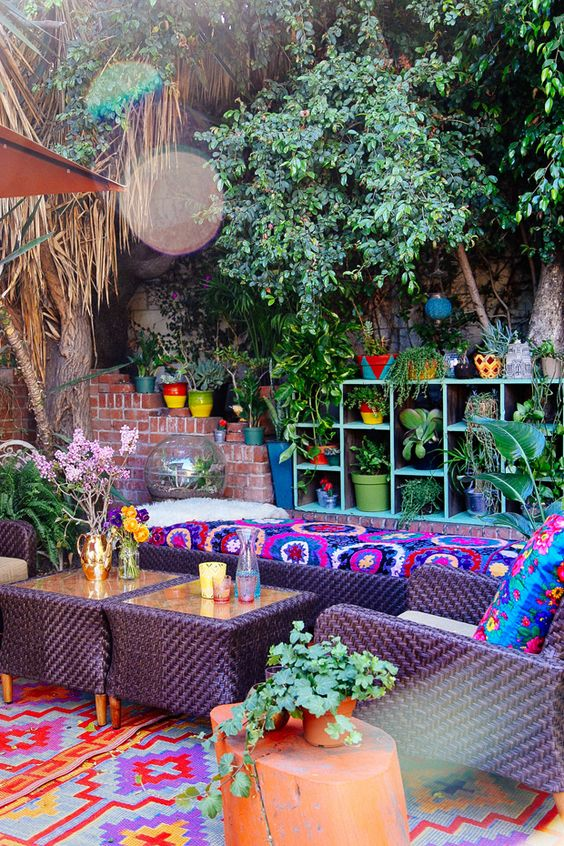 boho backyard ideas 25