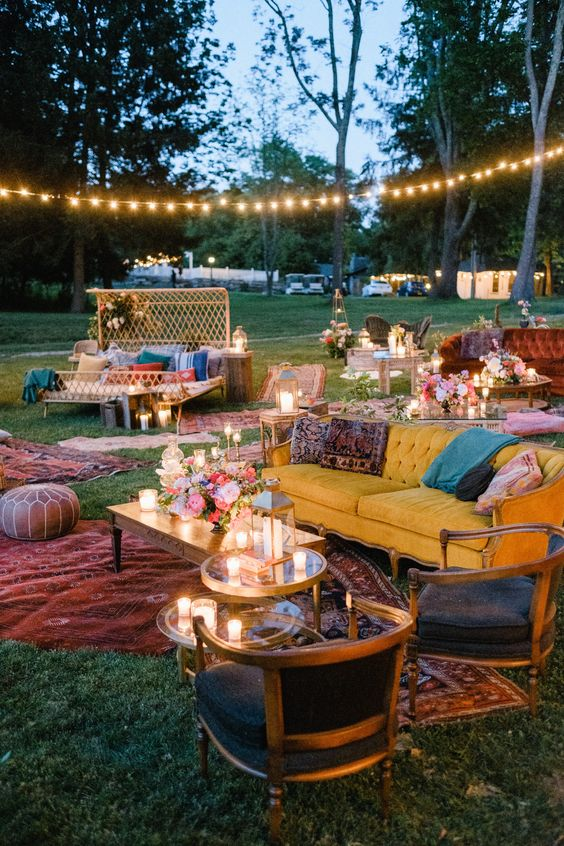 Boho Backyard Ideas: Party In The Backyard
