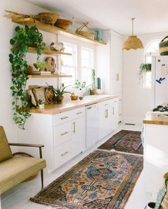 Boho Kitchen Ideas: Pure Looking Kitchen
