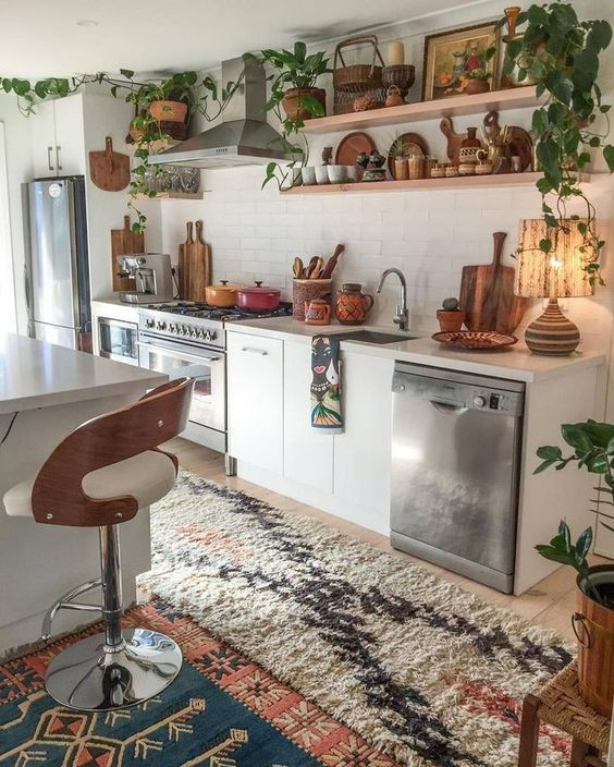 Boho Kitchen Ideas: Make A Loud Point