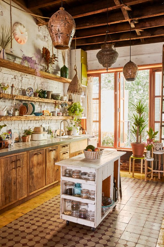 boho kitchen ideas 25