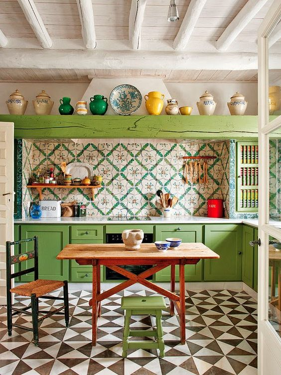 Boho Kitchen Ideas: Mix Them All
