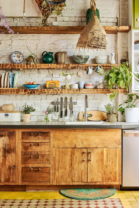Boho Kitchen Ideas: Combine Some Styles