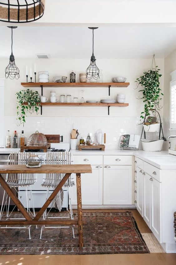 Boho Kitchen Ideas: Calming Earthy Kitchen