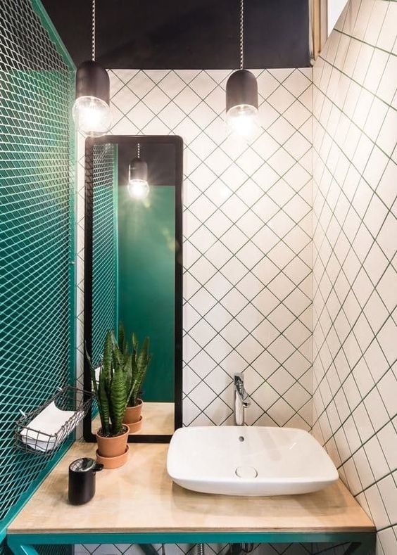green bathroom ideas 10