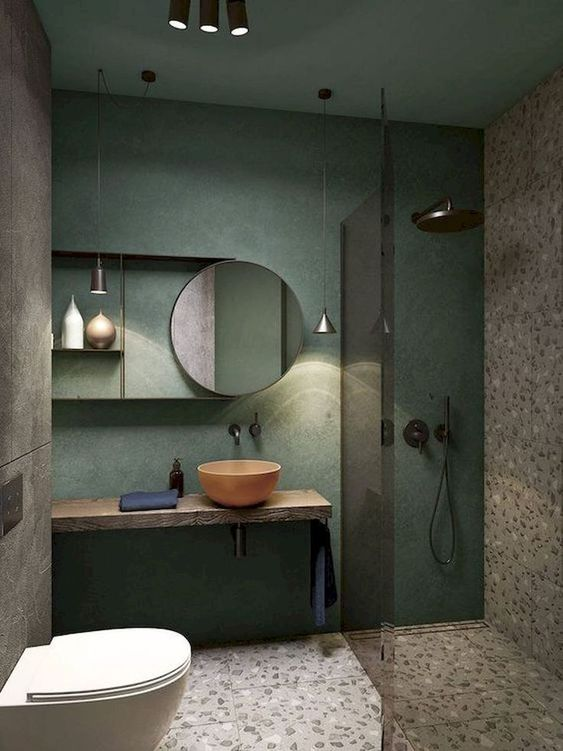 green bathroom ideas 11