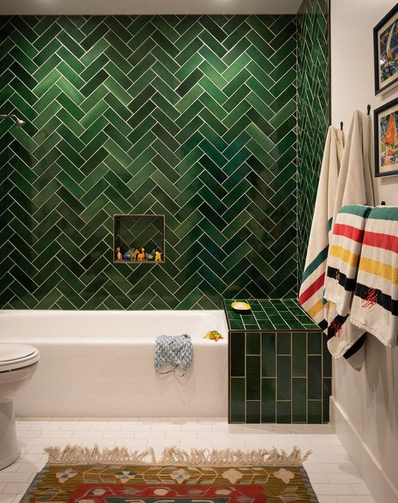 green bathroom ideas 13