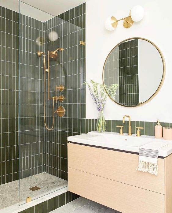 green bathroom ideas 14