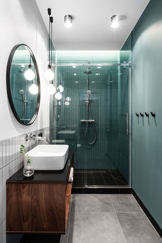 green bathroom ideas 17
