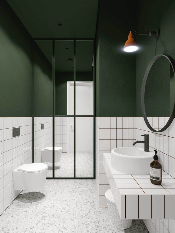 green bathroom ideas 18