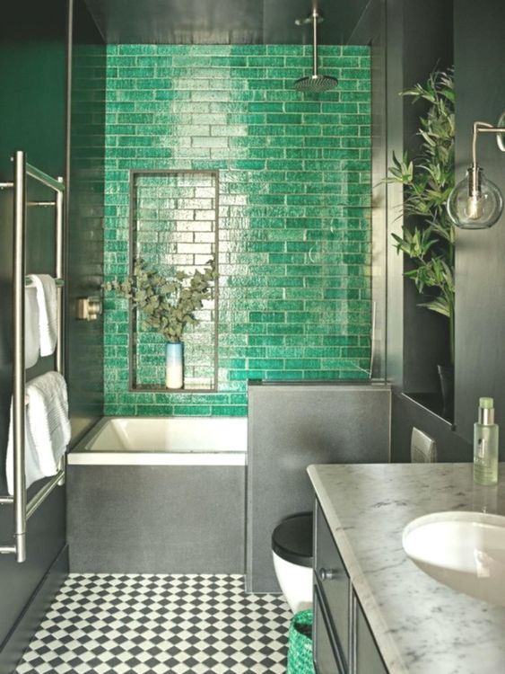 green bathroom ideas 19