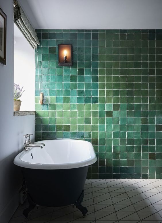 green bathroom ideas 22