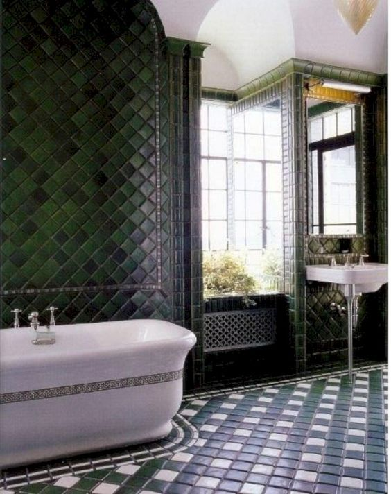 green bathroom ideas 23