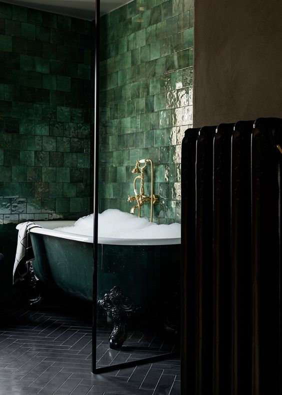 green bathroom ideas 24