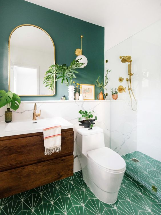 green bathroom ideas 8