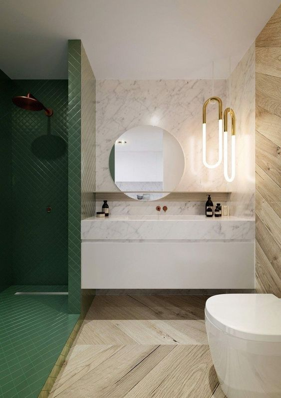 green bathroom ideas 9
