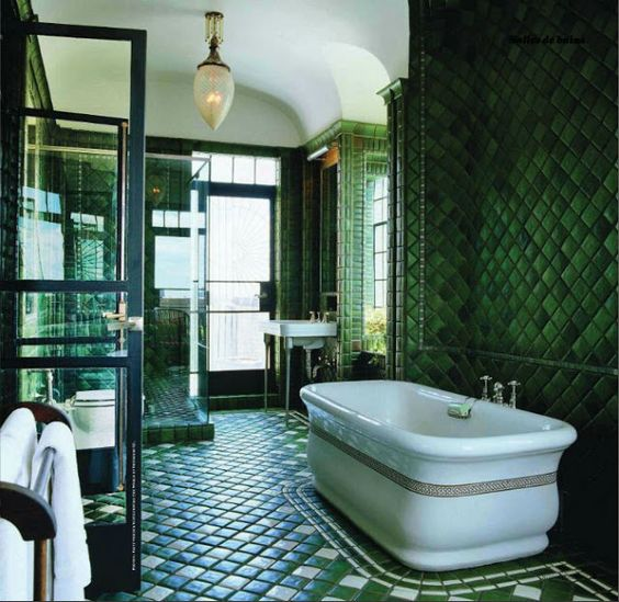 green bathroom ideas feature