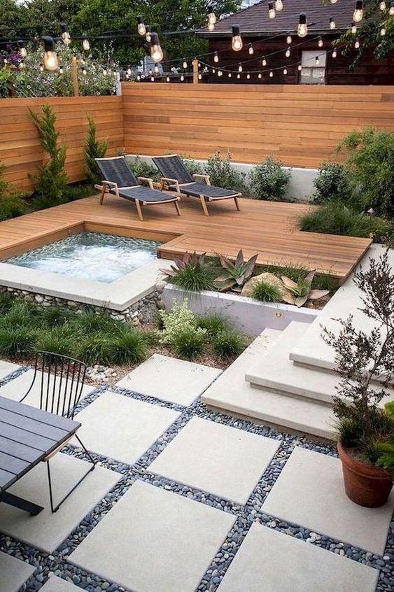 hot tub backyard 9