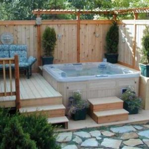 hot tub backyard feature