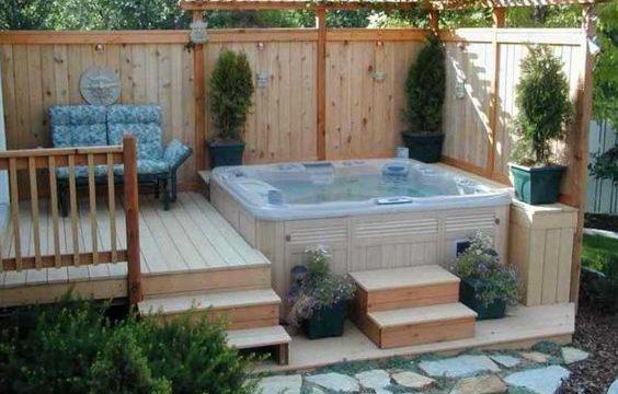 hot tub backyard feature