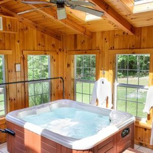indoor hot tub feature