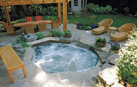 small hot tub feature
