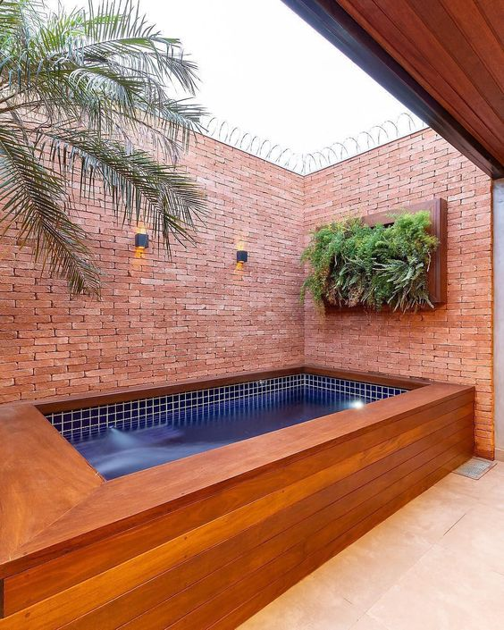 Small Swimming Pool Ideas: Calming Earthy Vibe