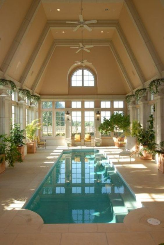Swimming Pool Indoor Ideas: Classic and Earthy Vibe
