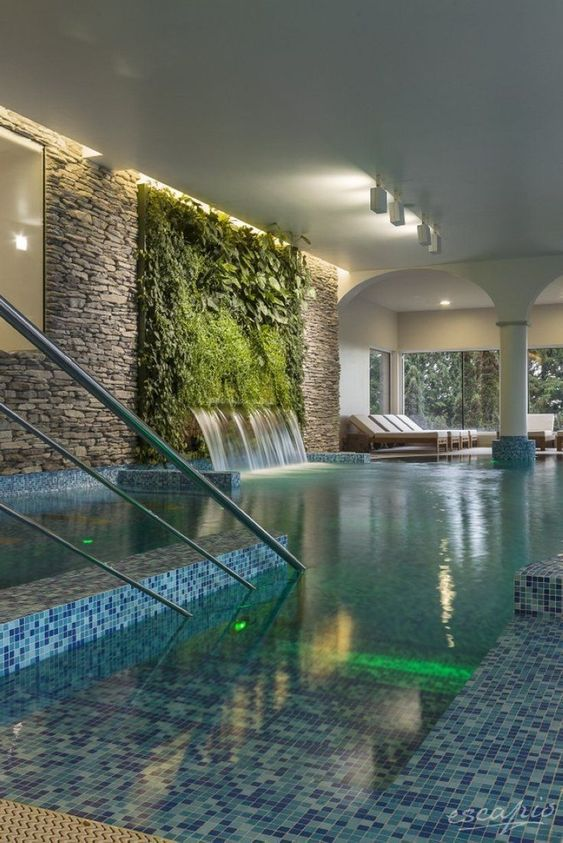 Swimming Pool Indoor Ideas: Mix All The Elements